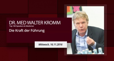 Speakers Impulse - Dr. med Walter Kromm