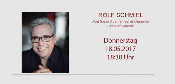 Dipl.-Pych. Rolf Schmiel  - Speakercamp 2017