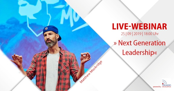 LIVE Online-Seminar mit Start-up Legende Matthew Mockridge